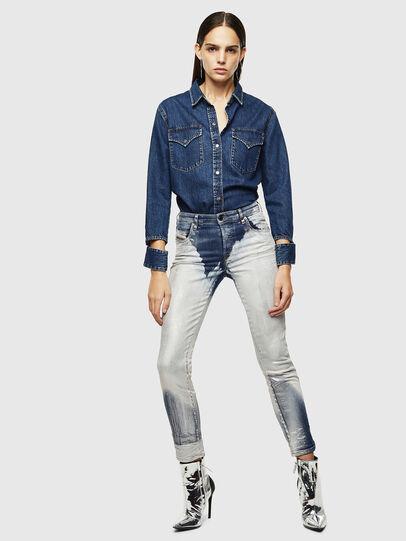 Diesel - DE-COLLY, Bleu moyen - Chemises en Denim - Image 6
