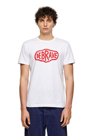 T-shirt Green Label avec imprimé Be Brave