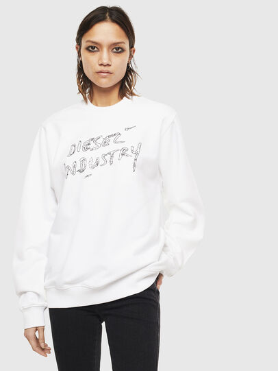 Diesel - F-ANG-S3, Blanc - Pull Cotton - Image 1