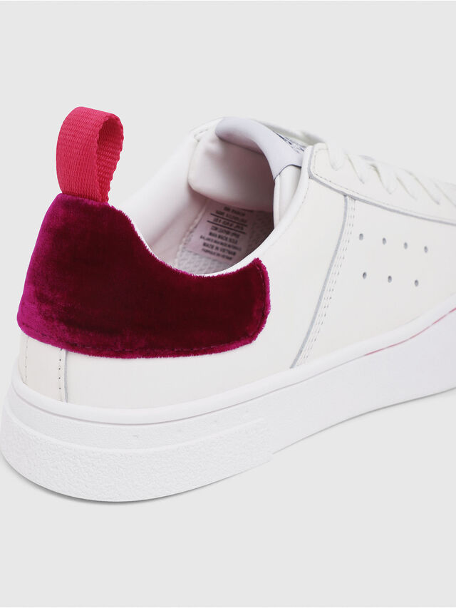 Diesel - S-CLEVER LOW W, Blanc/Rouge - Baskets - Image 4