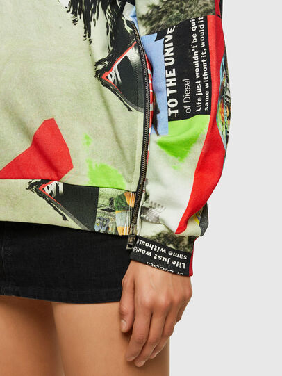 Diesel - F-ANG-ZIP-V43, Rouge/Blanc - Pull Cotton - Image 3