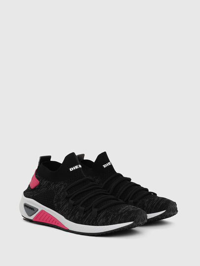 Diesel - S-KB ATHL LACE W, Noir/Rose - Baskets - Image 2