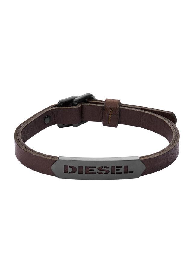 Diesel - BRACELET DX1000, Marron - Bracelets - Image 1