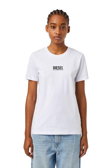 T-shirt avec petit logo imprimé en 3D