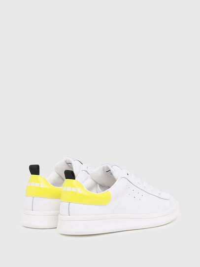 Diesel - SN LOW LACE 11 FULL, Blanc/Jaune - Footwear - Image 3