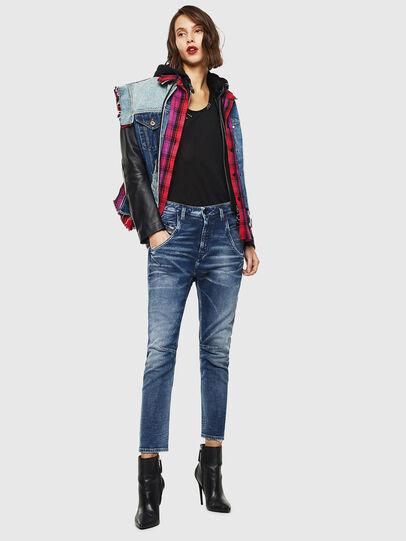 Diesel - Fayza JoggJeans 0096M, Bleu Foncé - Jeans - Image 5