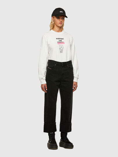 Diesel - F-ANG-R10, Blanc - Pull Cotton - Image 5