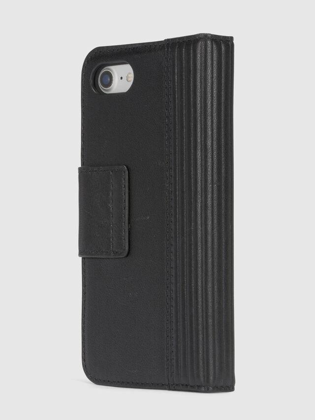 BLACK LINED LEATHER IPHONE 8/7 FOLIO, Noir