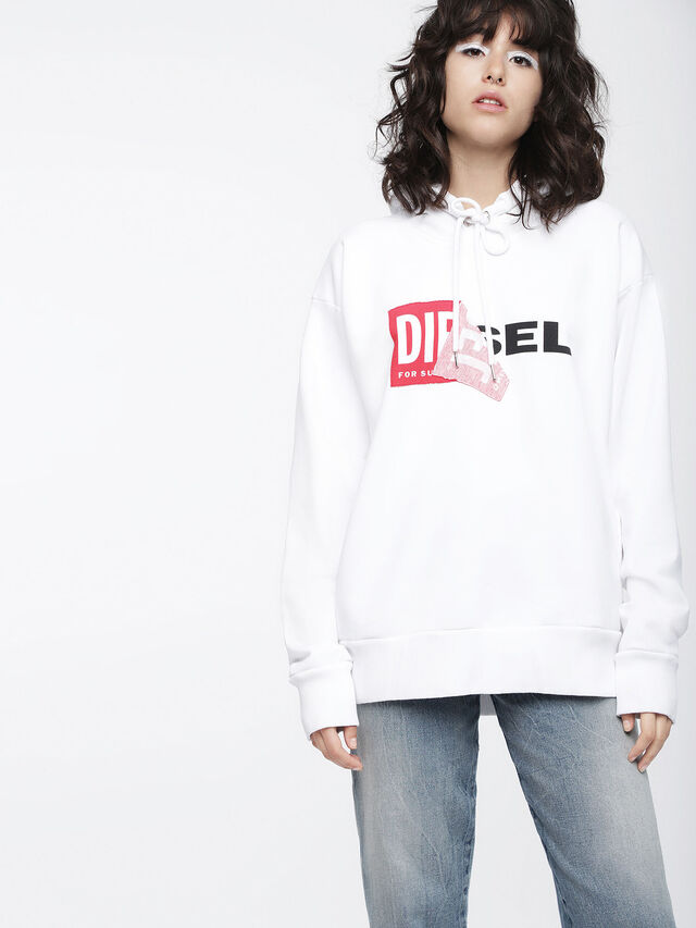 Diesel - F-ALBY-FL-A, Blanc - Pull Cotton - Image 1
