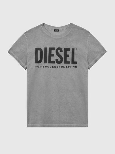 Diesel - T-DIEGO-LOGO, Gris foncé - T-Shirts - Image 1
