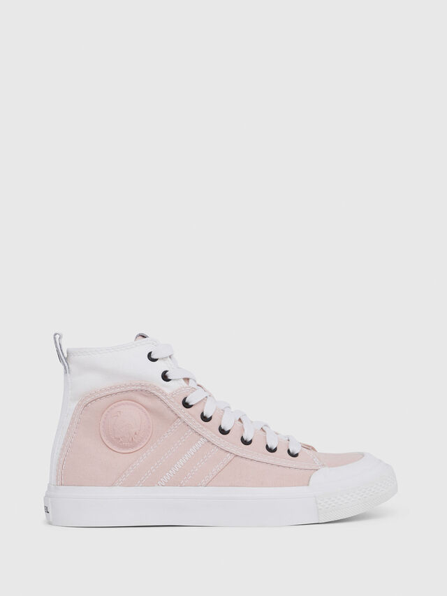 Diesel - S-ASTICO MID LACE W, Rose/Blanc - Baskets - Image 1
