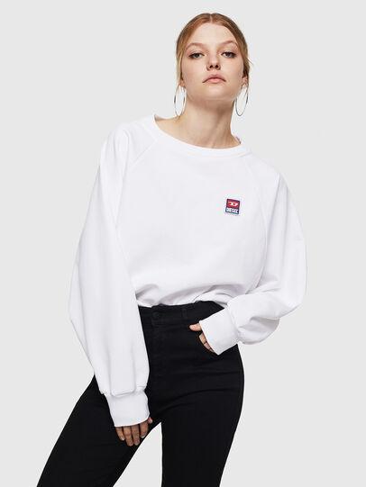 Diesel - F-HENNY-E, Blanc - Pull Cotton - Image 1