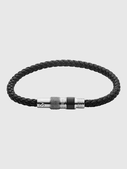 Diesel - DX1222, Noir/Gris argenté - Bracelets - Image 1