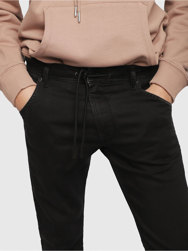 Diesel - Krooley JoggJeans 0687Z, Noir/Gris foncé - Jeans - Image 3