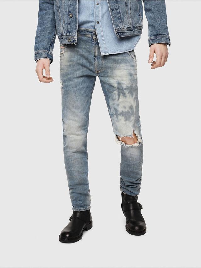 Diesel - Krooley JoggJeans 087AE, Bleu Clair - Jeans - Image 1