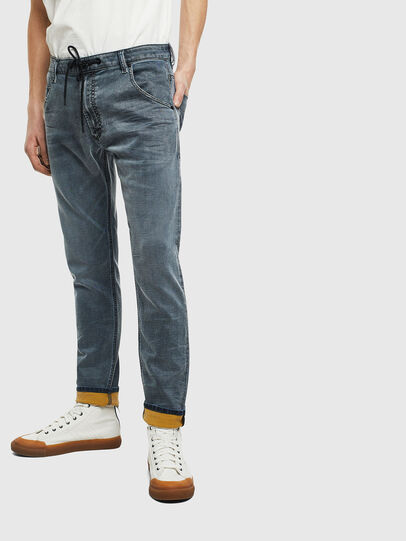 Diesel - Krooley JoggJeans 069LT, Bleu Foncé - Jeans - Image 1