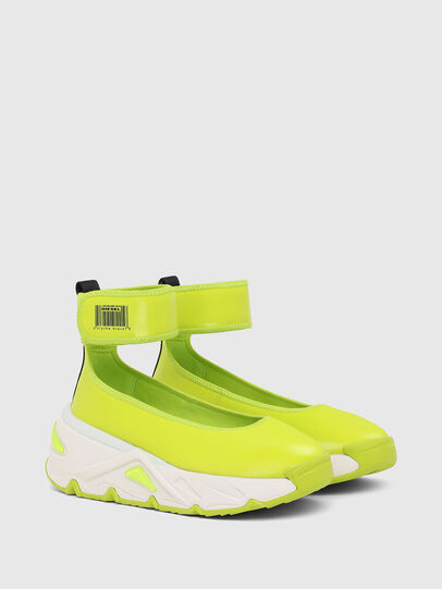 Diesel - S-HERBY BA W, Jaune - Chaussures Plates - Image 2