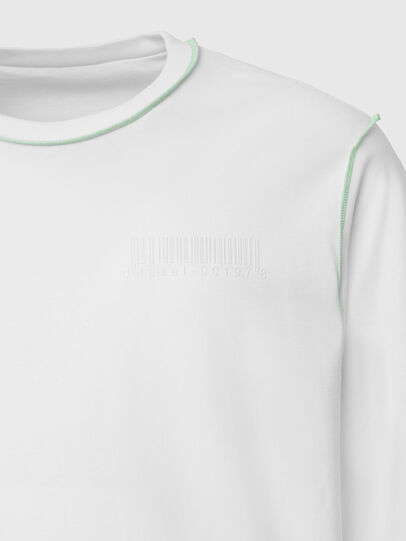 Diesel - T-JUSEAM-LS, Blanc - T-Shirts - Image 4