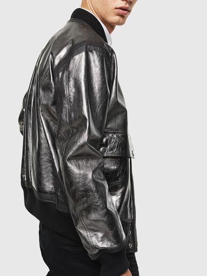Diesel - L-STEWARD-FOIL, Noir - Vestes de cuir - Image 3