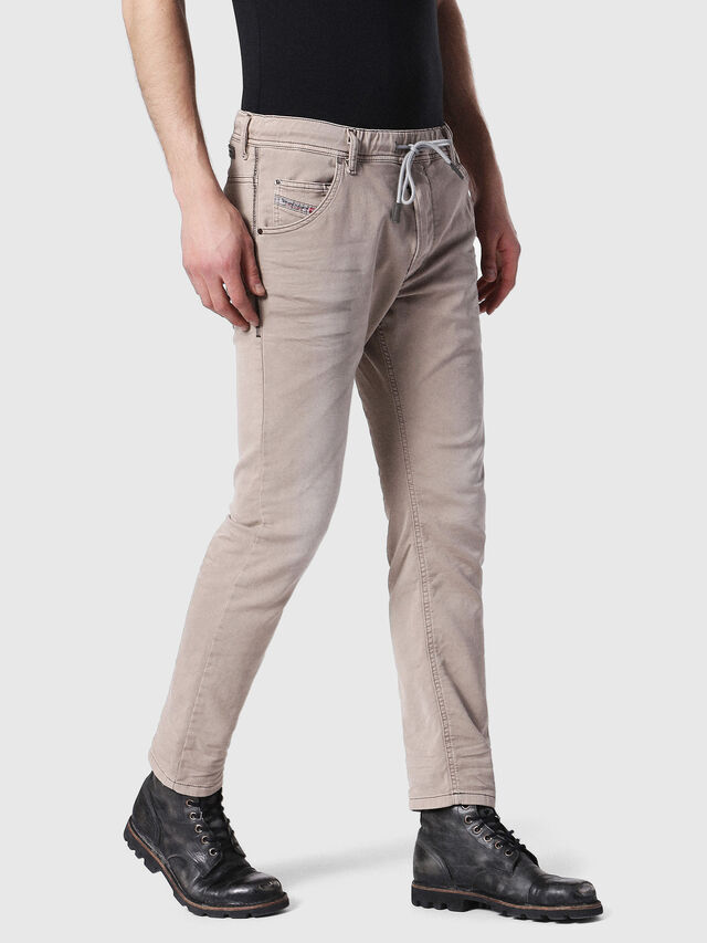 Diesel - Krooley JoggJeans 0670M, Marron Clair - Jeans - Image 4