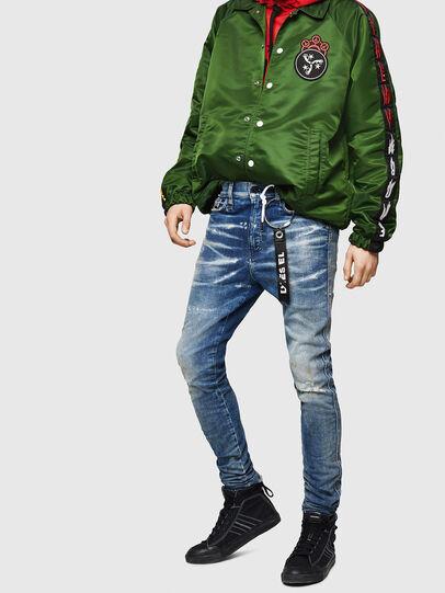 Diesel - D-Reeft JoggJeans 0870Q, Bleu moyen - Jeans - Image 4