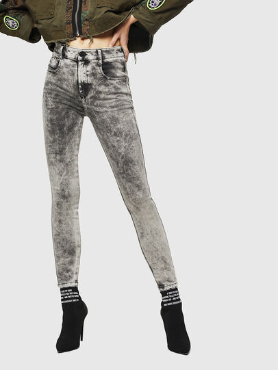 Diesel - Slandy High 069GQ, Gris Clair - Jeans - Image 1
