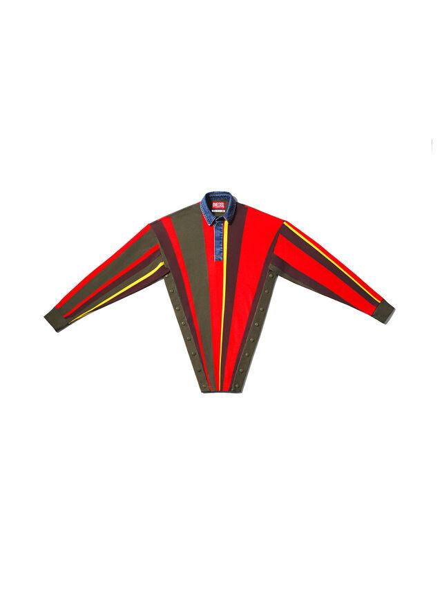 Diesel - GMPL01, Vert/Rouge - T- Shirts - Image 1