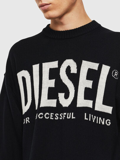 Diesel - K-LOGOS, Noir - Pull Maille - Image 5