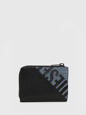 L-12 ZIP, Noir/Bleu - Petits Portefeuilles
