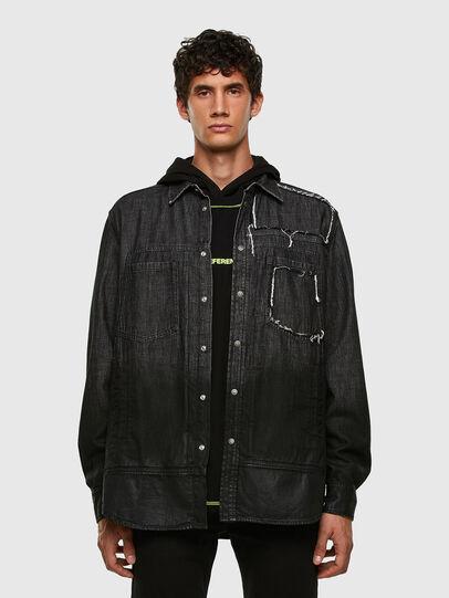 Diesel - D-NESKY, Noir - Chemises en Denim - Image 5