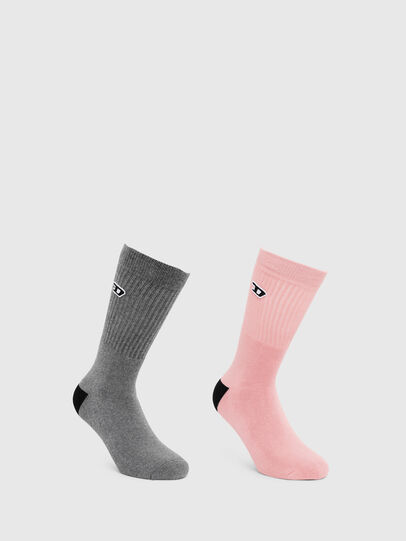 Diesel - SKM-RAY-TWOPACK, Gris - Chaussettes - Image 1