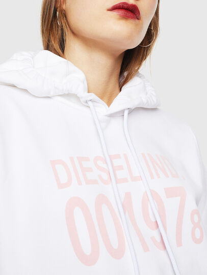 Diesel - F-ANG-HOOD-J1, Blanc - Pull Cotton - Image 3