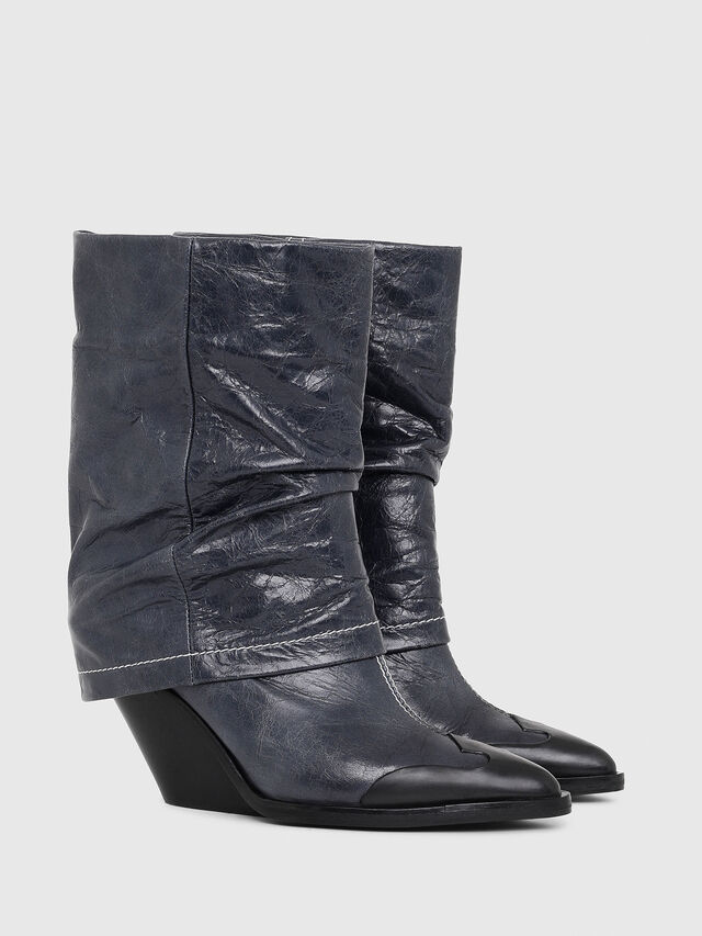 Diesel - D-WEST MB, Bleu - Bottines - Image 2