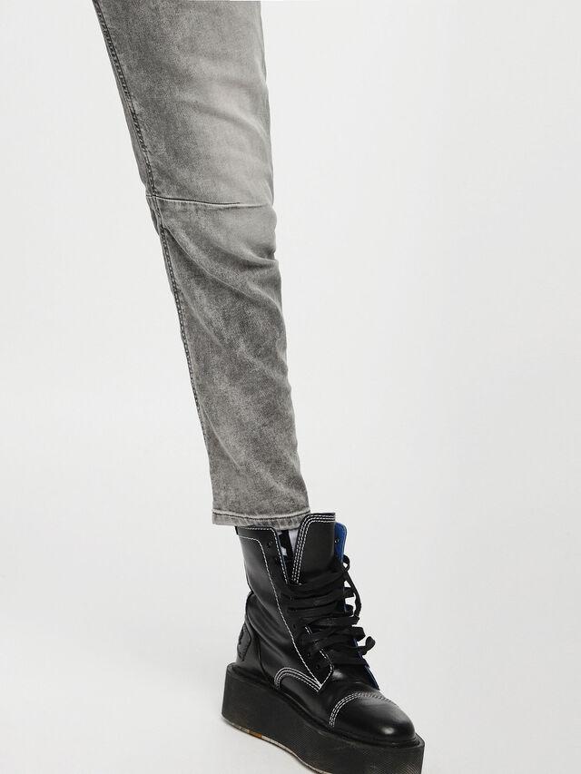 Diesel - Fayza JoggJeans 0855B, Gris Clair - Jeans - Image 5