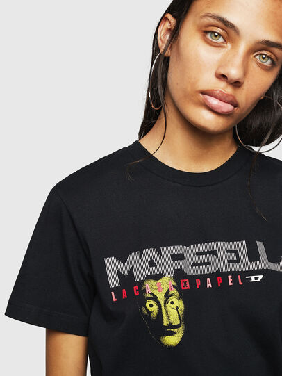 Diesel - LCP-T-DIEGO-MARSELLA, Noir - T-Shirts - Image 4