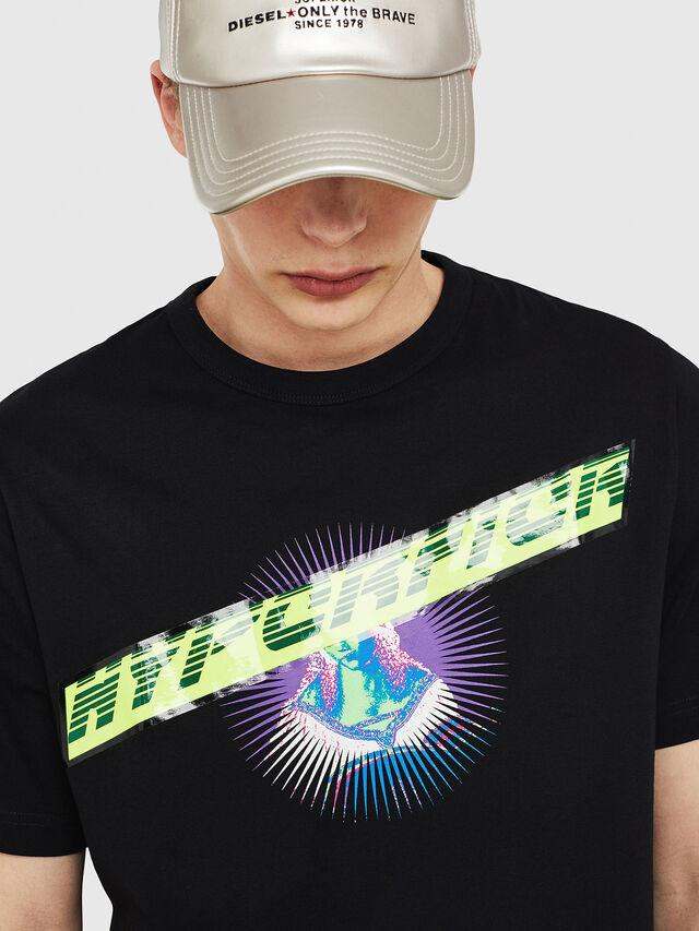 Diesel - T-YORI, Noir - T-Shirts - Image 3