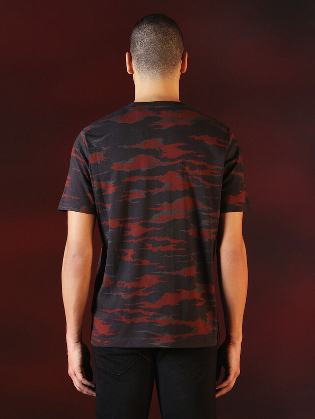 DVL-TSHIRT-CAMU-SPECIAL COLLECTION, Rouge/Noir