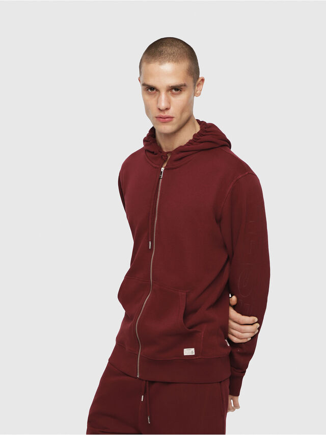 Diesel - UMLT-BRANDON-Z, Bordeaux - Pull Cotton - Image 1