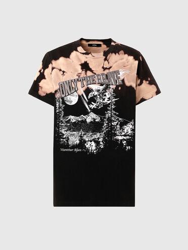 T-shirt graphique délavé