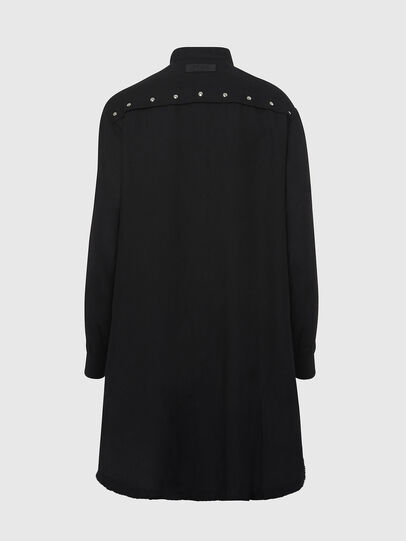 Diesel - D-SUPER-D, Noir - Robes - Image 2