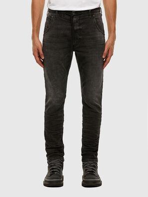 Krooley JoggJeans 009FZ, Noir/Gris foncé - Jeans