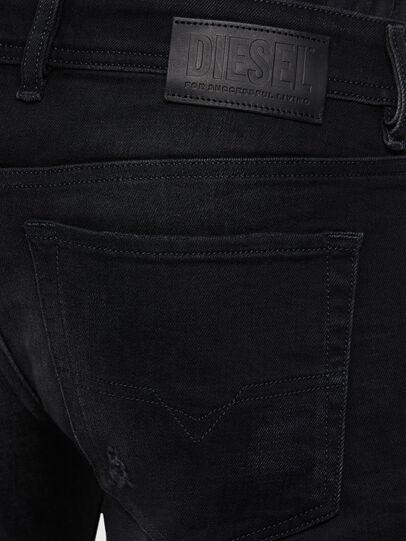 Diesel - Sleenker 0092B, Noir/Gris foncé - Jeans - Image 4
