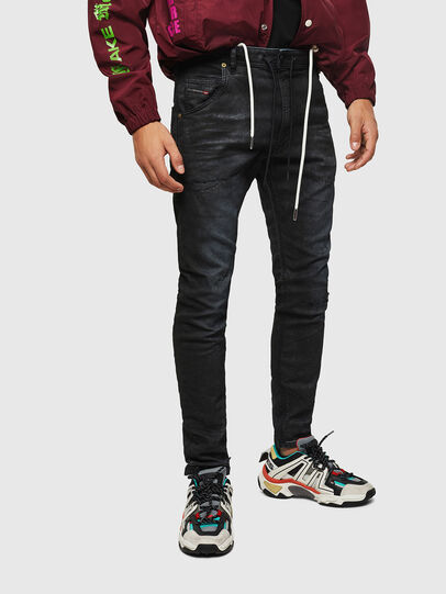 Diesel - Krooley JoggJeans 069GP, Noir/Gris foncé - Jeans - Image 1
