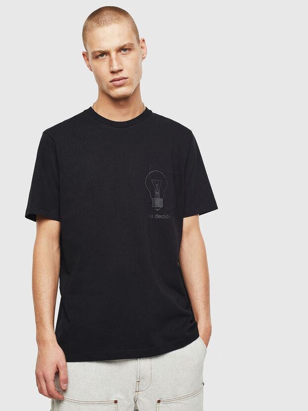 T-JUST-POCKET-T17, Noir - T-Shirts