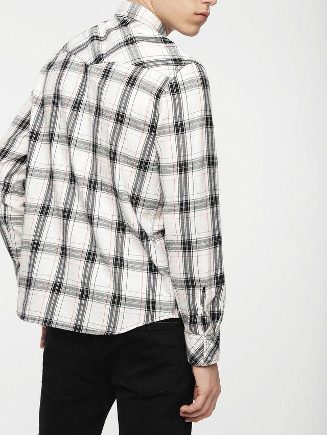 Diesel - S-EAST-LONG-C, Blanc/Noir - Chemises - Image 2