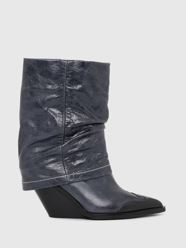 Diesel - D-WEST MB, Bleu - Bottines - Image 1