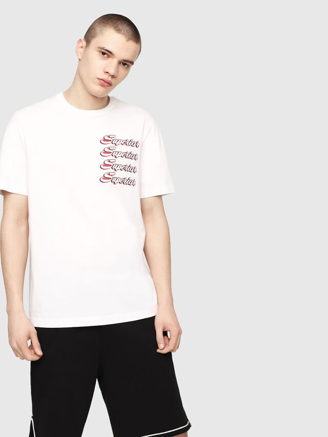 Diesel - T-JUST-Y13, Blanc - T-Shirts - Image 1