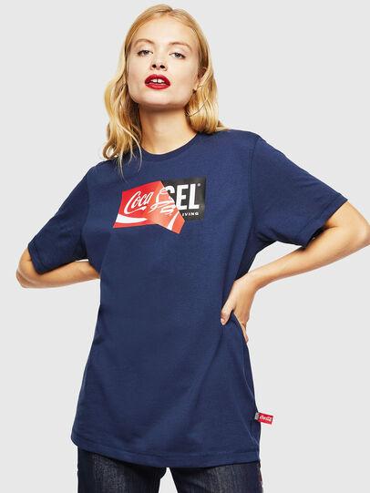 Diesel - CC-T-JUST-COLA, Bleu Foncé - T-Shirts - Image 2