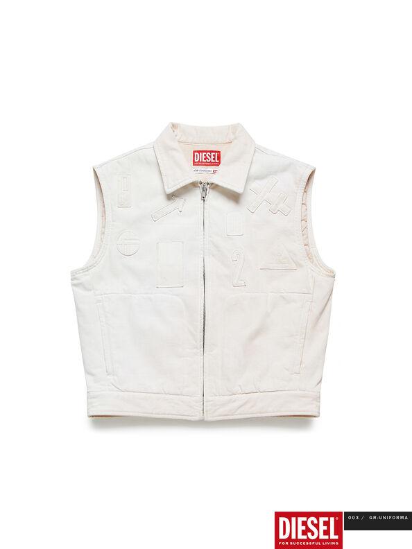 GR02-J303, Blanc - Vestes en denim