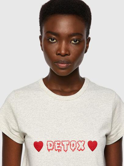 Diesel - T-SLICUP, Gris Clair - T-Shirts - Image 3
